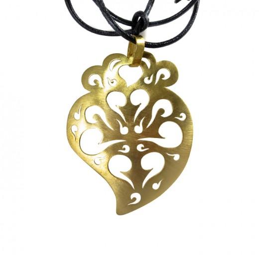 Coração de Viana L - Dourado